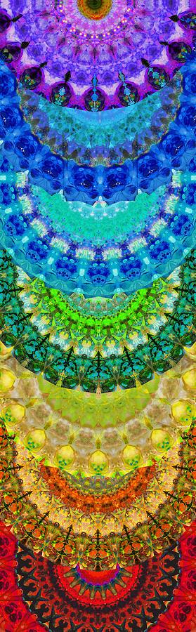 Chakra Mandala Healing Art By Sharon Cummings Painting By