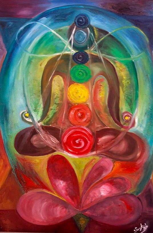 Chakra Meditation Painting by Sara A