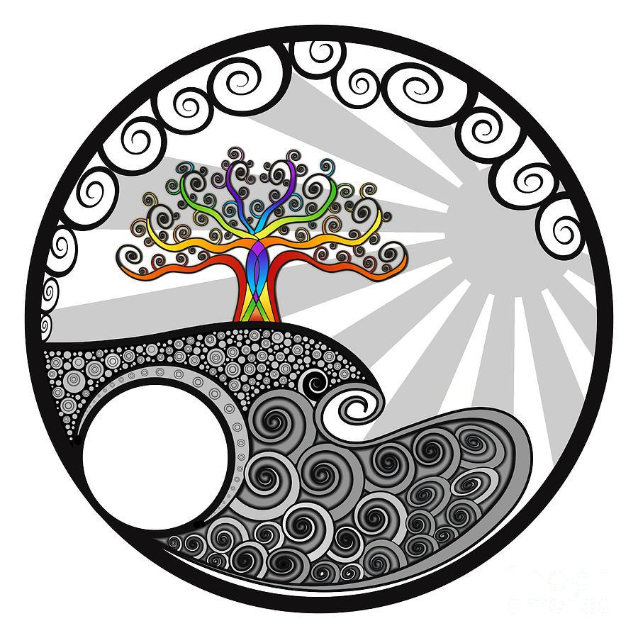 Chakra Tree Painting