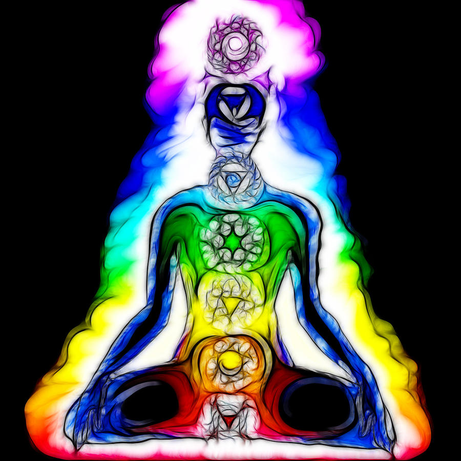 Chakras At Work Digital Art  - Chakras At Work Fine Art Print