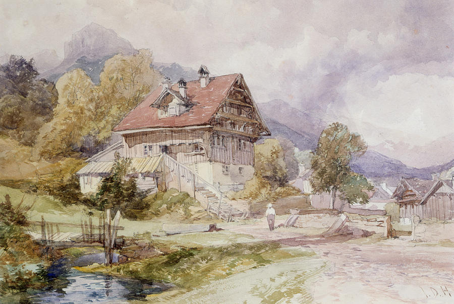 Chalet, Brunnen, Lake Lucerne Drawing