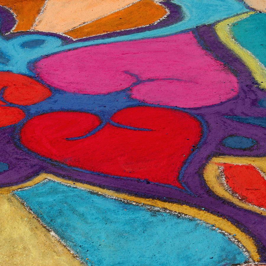 Chalk Hearts Photograph