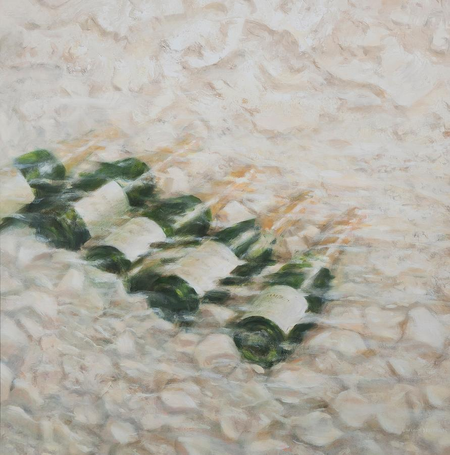 Champagne Cooling Painting