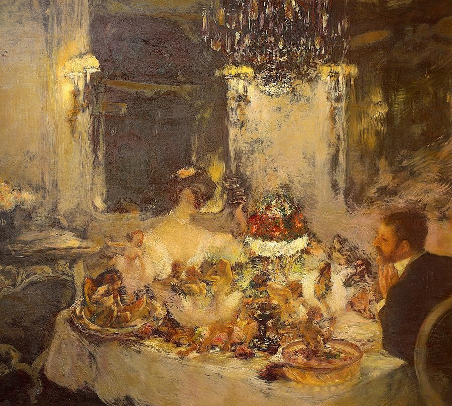 Art Painting - Champagne by Gaston La Touche