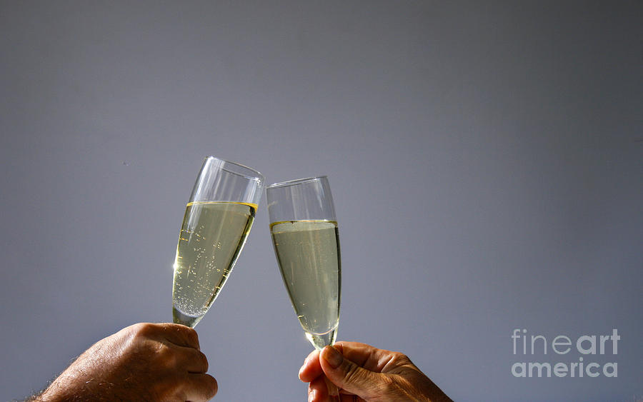 Alcohol Alcoholic Anniversary Arms Background Bare Beverage Bubb Photograph - Champagne Toast by Patricia Hofmeester