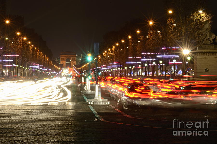 Champs-elysees And Arc De Triomphe Photograph