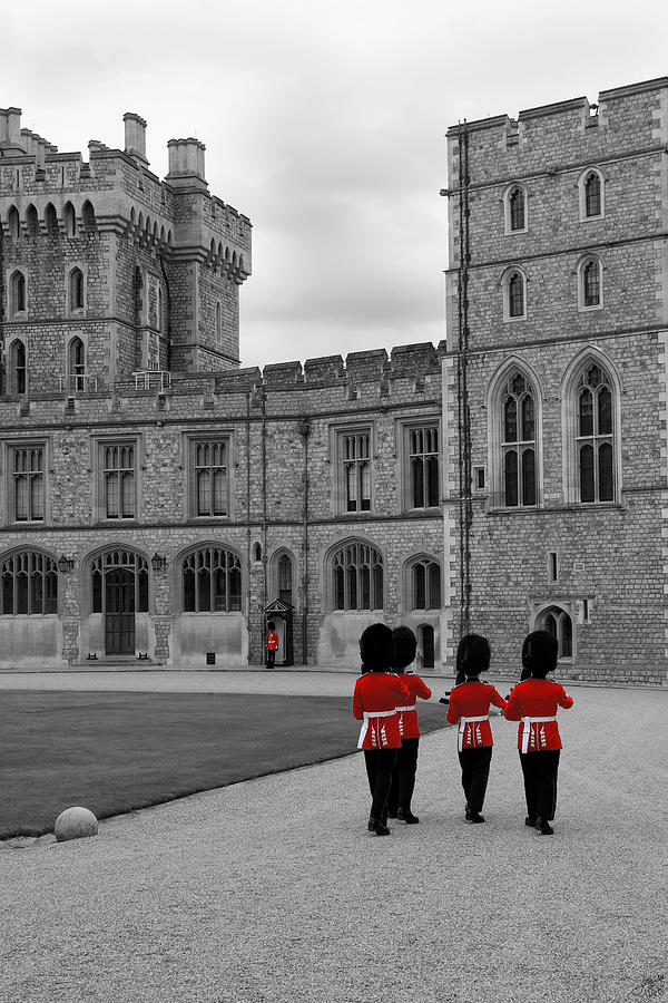 Changing Of The Guard At Windsor Castle Photograph