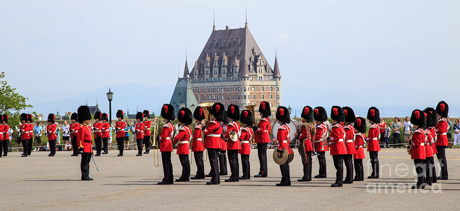 Quebec Photograph - Changing Of The Guard The Citadel Quebec City by Edward Fielding