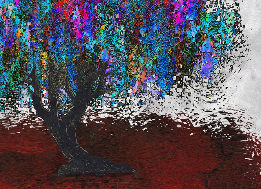 Changing Tree Painting  - Changing Tree Fine Art Print