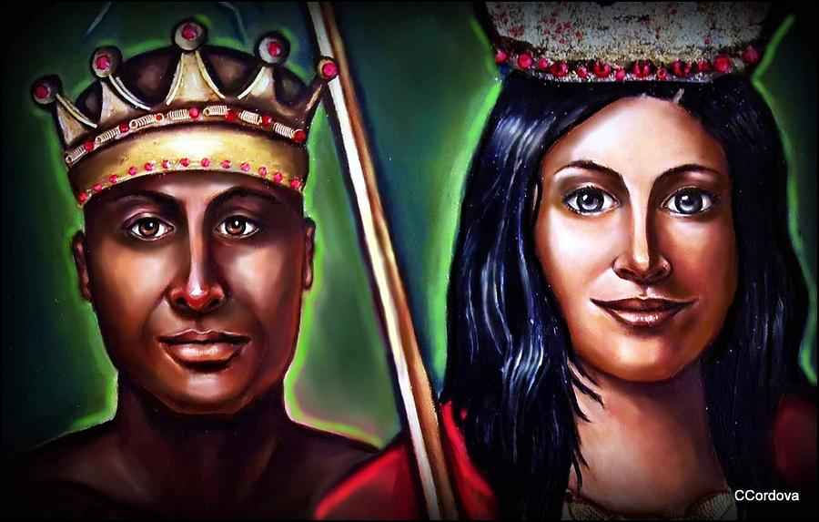 Chango And Saint Barbara Together Painting