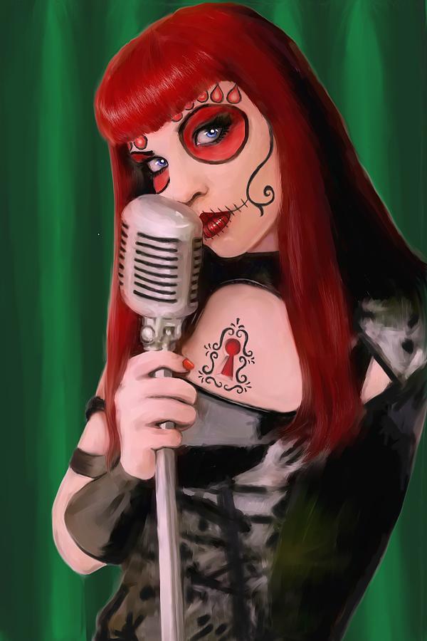 Chanteuse Painting