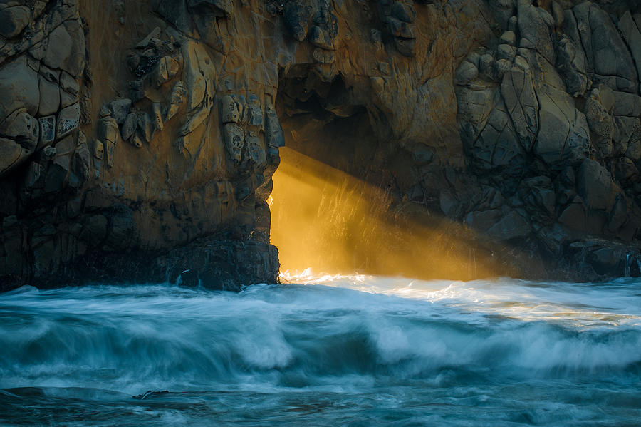 Chaos - Pfeiffer Beach Photograph