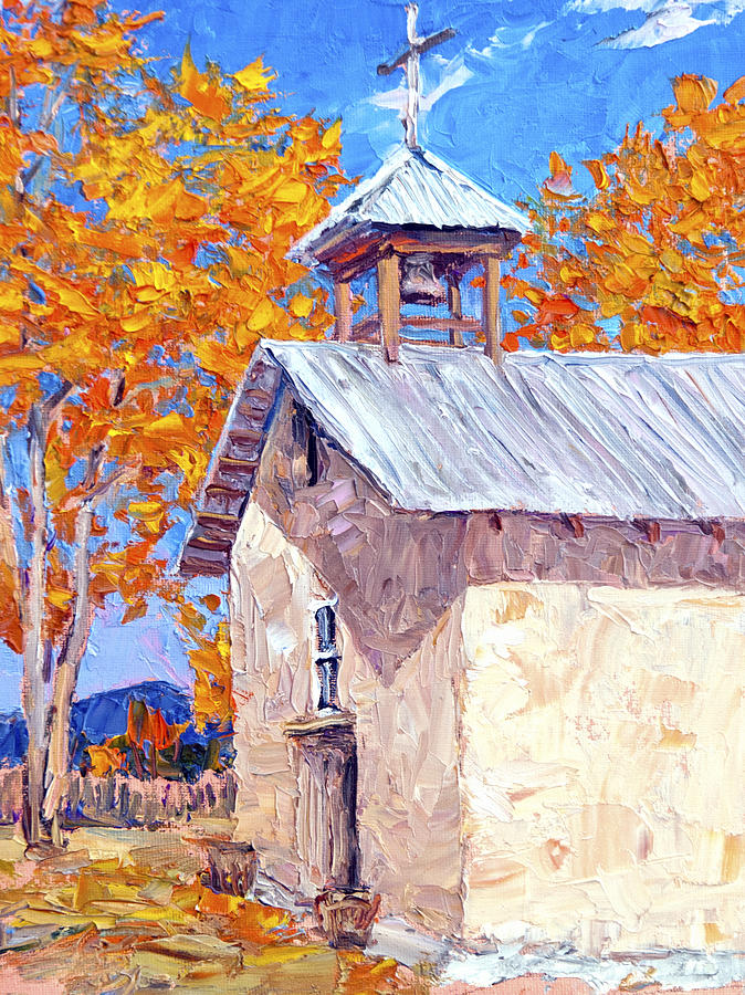 Chapel At Ojo Claiente Painting  - Chapel At Ojo Claiente Fine Art Print