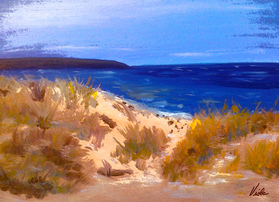 Chapin Beach In Winter Painting
