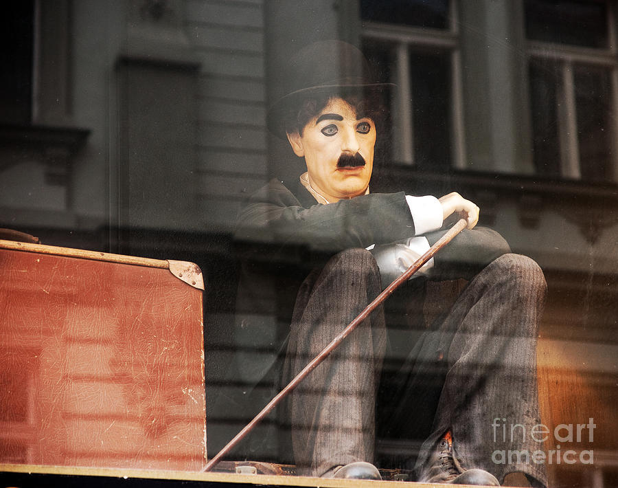 Chaplin In Prague Photograph  - Chaplin In Prague Fine Art Print