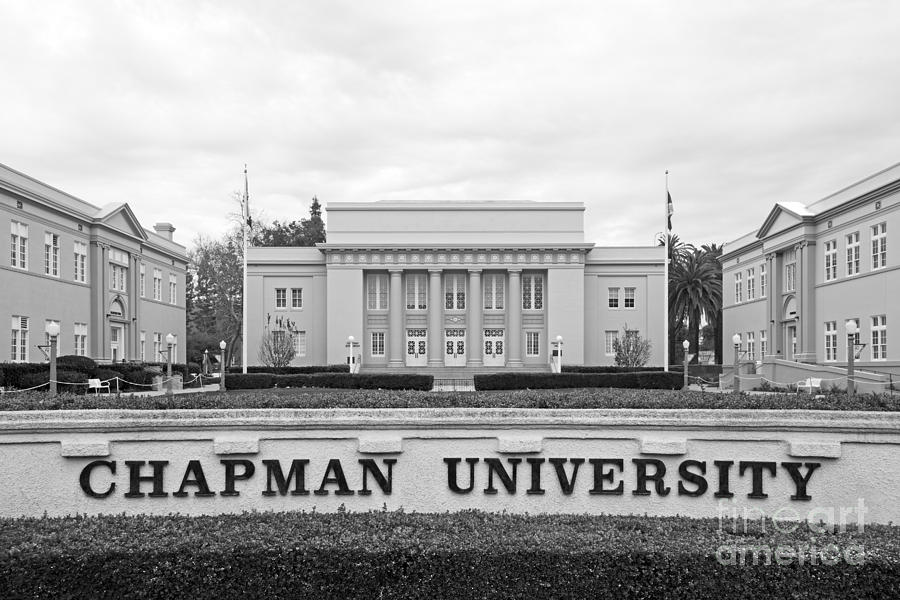 Chapman University Memorial Hall Photograph