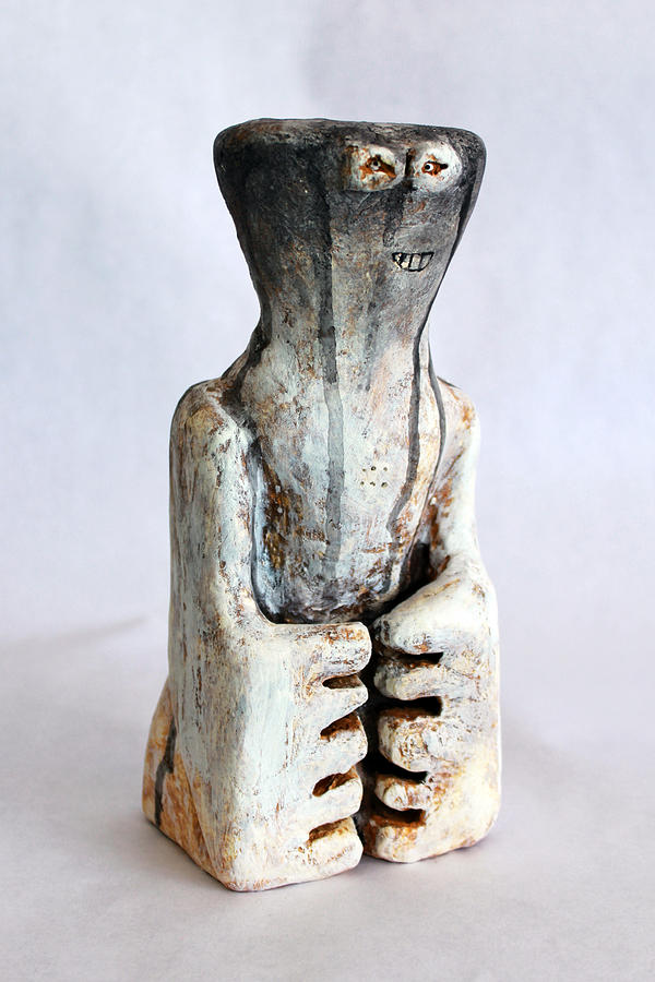 Plaster Sculpture - Charlatan No. 2 by Mark M  Mellon
