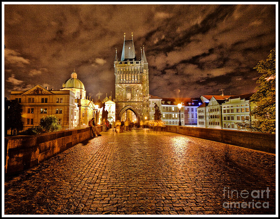 Charles Bridge At Night Photograph