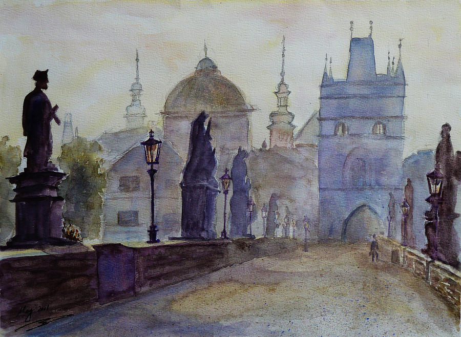 Charles Bridge Prague Painting