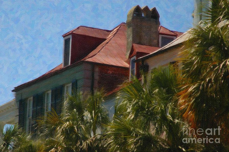 Charleston Rooftop Digital Art