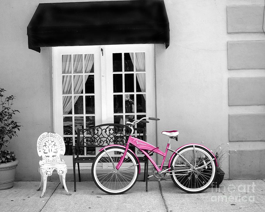 Charleston South Carolina Black White Pink Bicycle ...