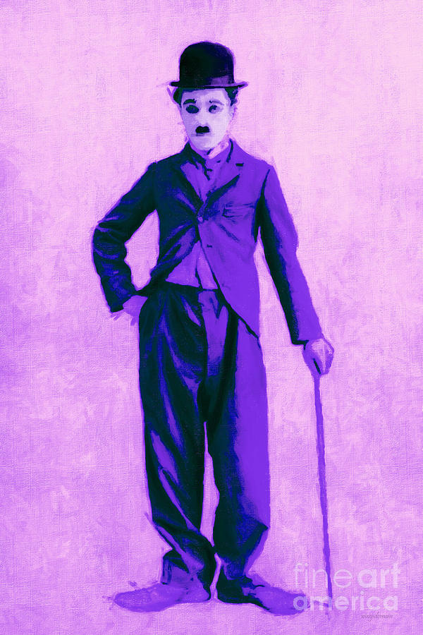 Charlie Chaplin The Tramp 20130216m40 Photograph  - Charlie Chaplin The Tramp 20130216m40 Fine Art Print