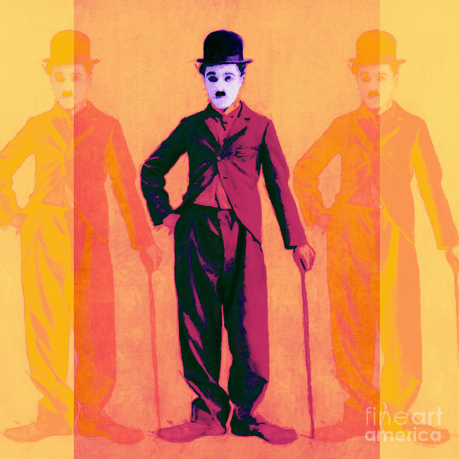 Charlie Chaplin The Tramp Three 20130216 Photograph  - Charlie Chaplin The Tramp Three 20130216 Fine Art Print