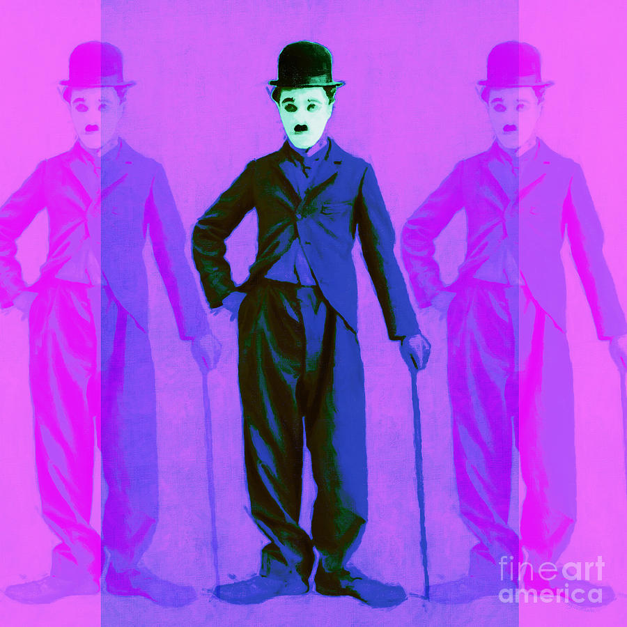Charlie Chaplin The Tramp Three 20130216m108 Photograph  - Charlie Chaplin The Tramp Three 20130216m108 Fine Art Print