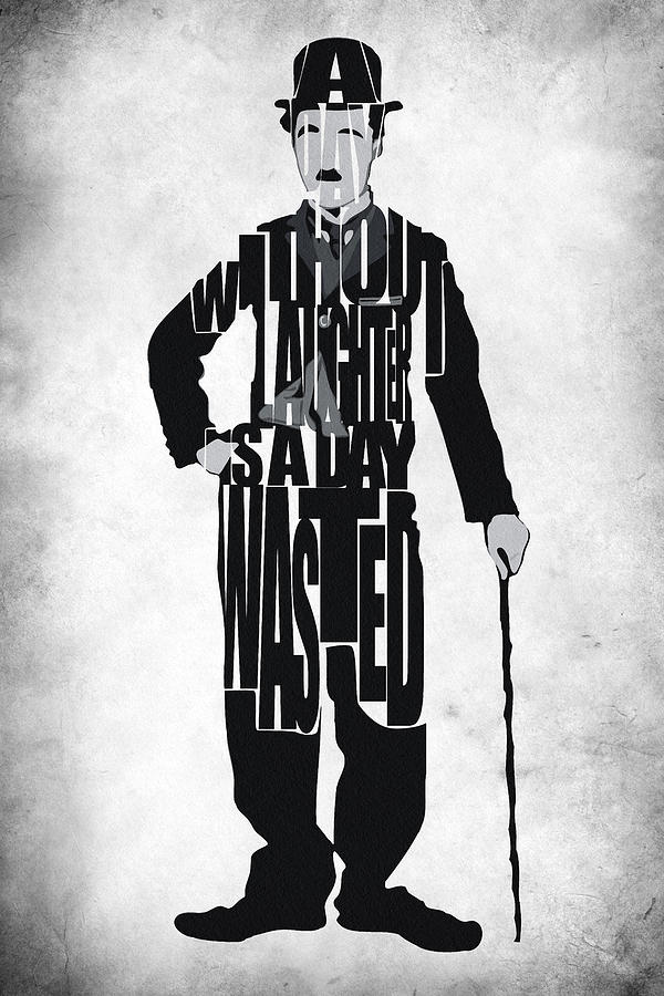 Charlie Chaplin Typography Poster Painting