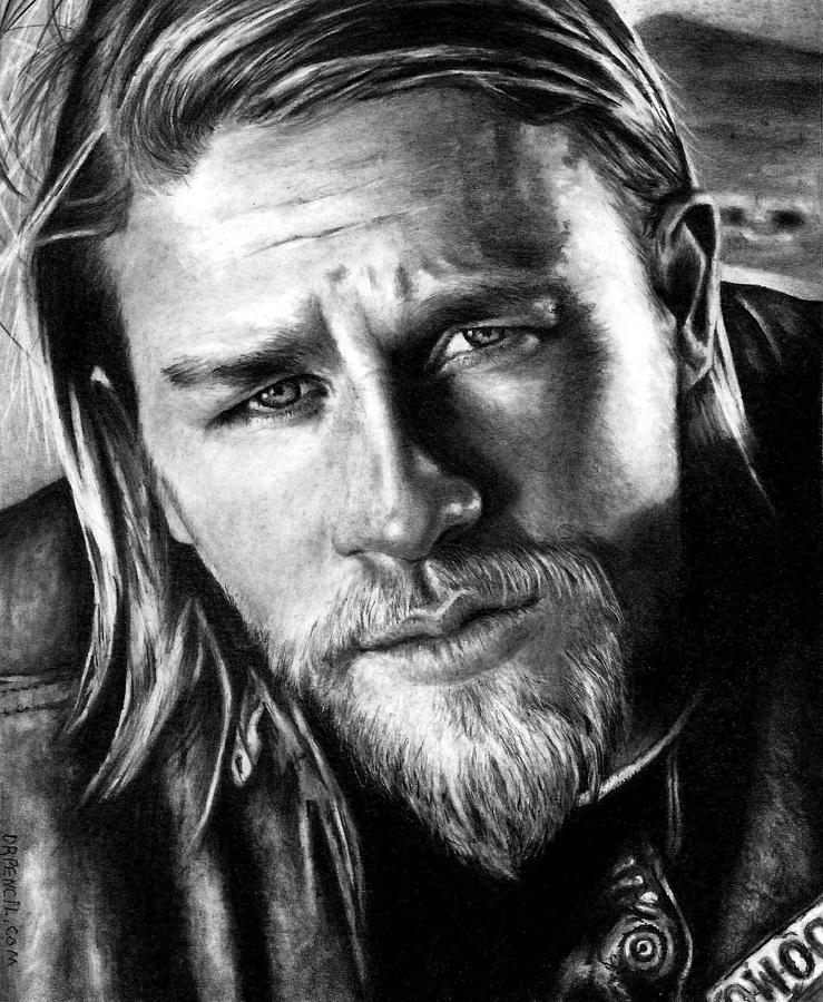 Charlie Hunnam As Jax Teller is a drawing by Rick Fortson which was ...