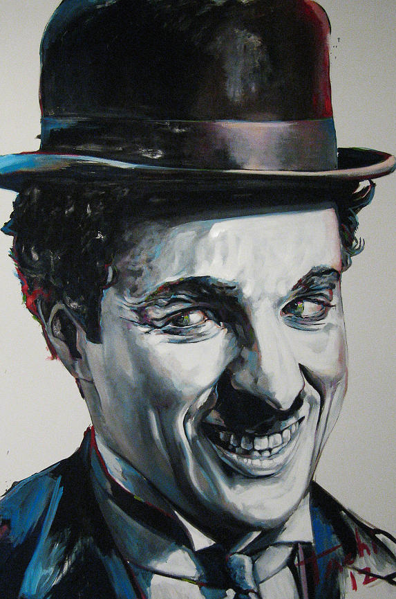 Charlie Chaplin Painting - Charlie by Tachi Pintor
