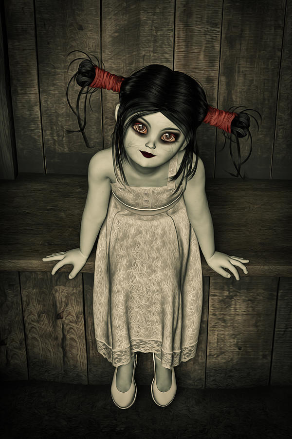 Charlotte - The Gothic Doll Digital Art