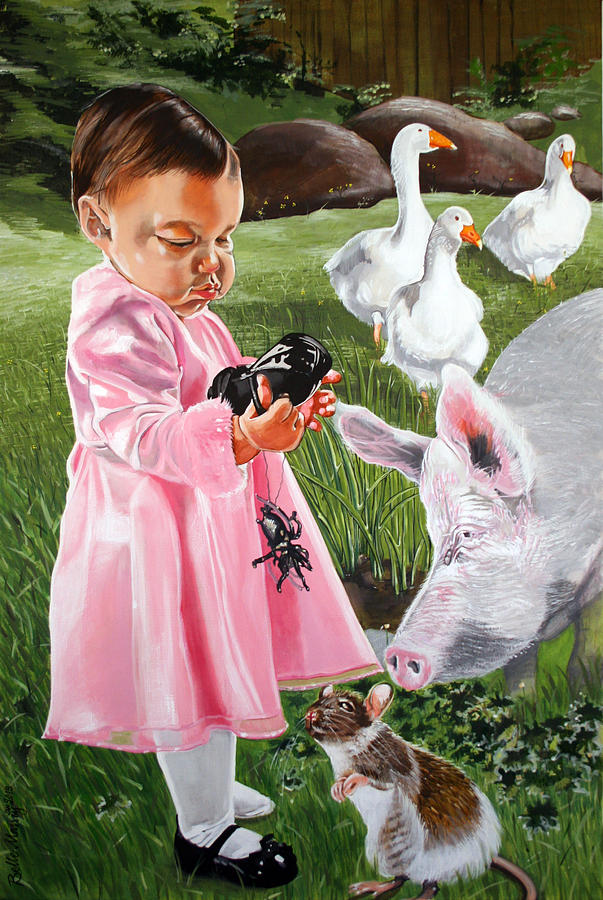 Charlotte's Web Painting - Charlottes Web by Belle Massey
