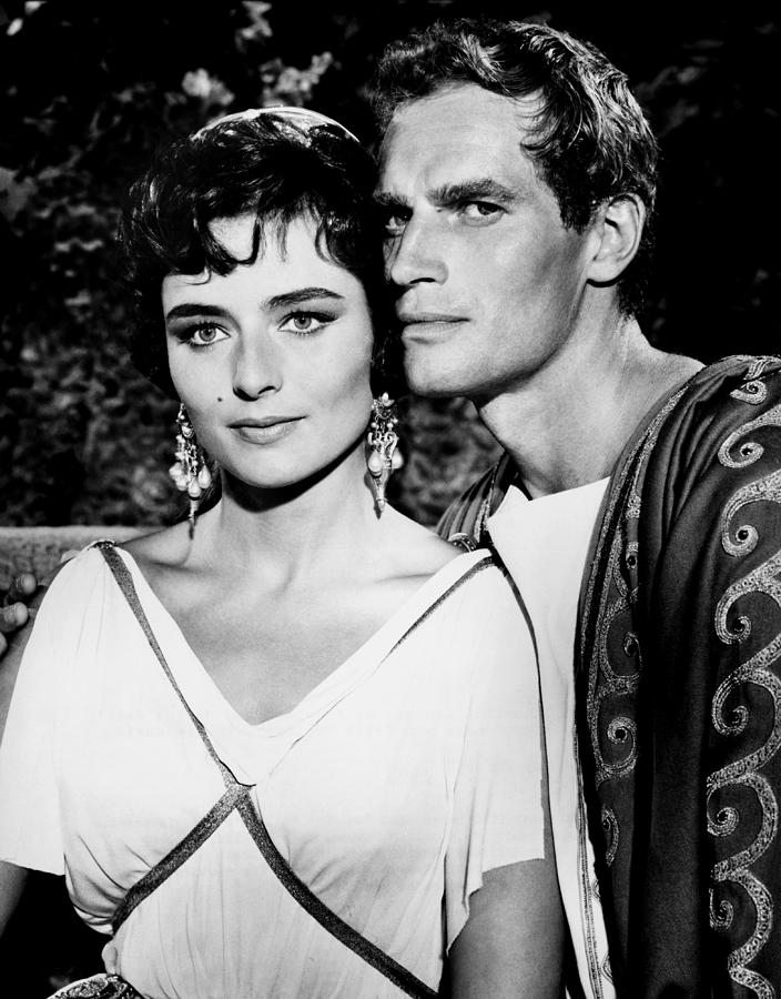 Charlton Heston And Marina Berti Photograph