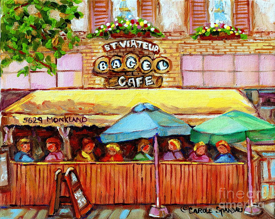 Charming French Cafe Scenes St Viateur Bagel Monkland ... - photo#28
