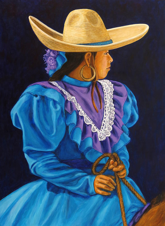 Mexican Rodeo Painting - Charra Linda by Pat Haley