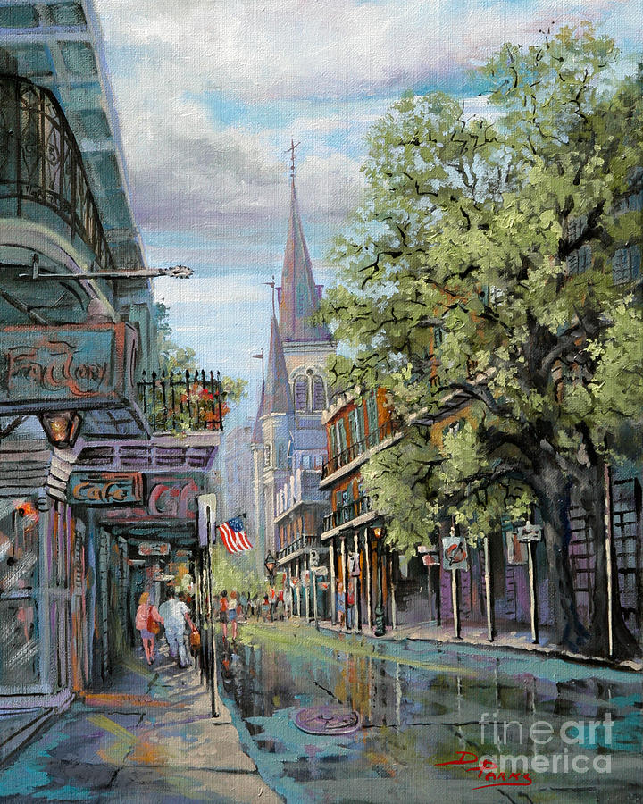 St. Louis Cathedral Painting - Chartres Rain by Dianne Parks