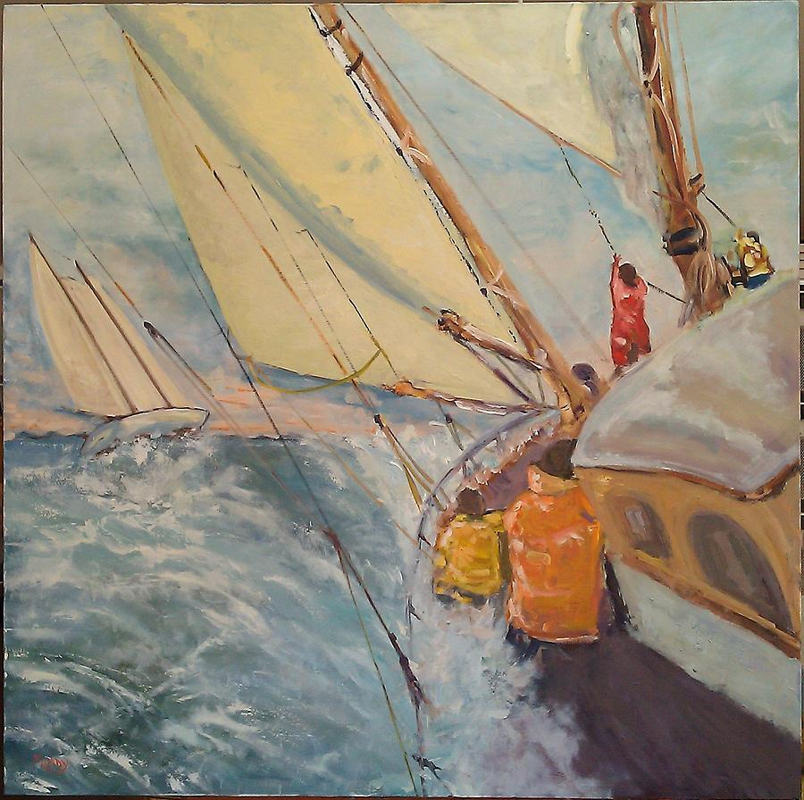 Chase On Port Side Painting