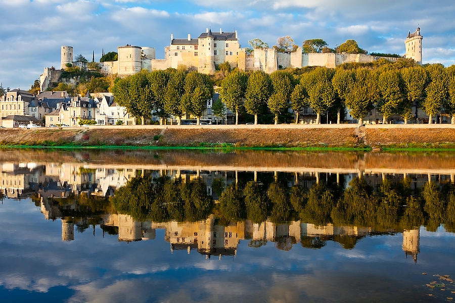 Chateau Above And Below Chinon  Photograph