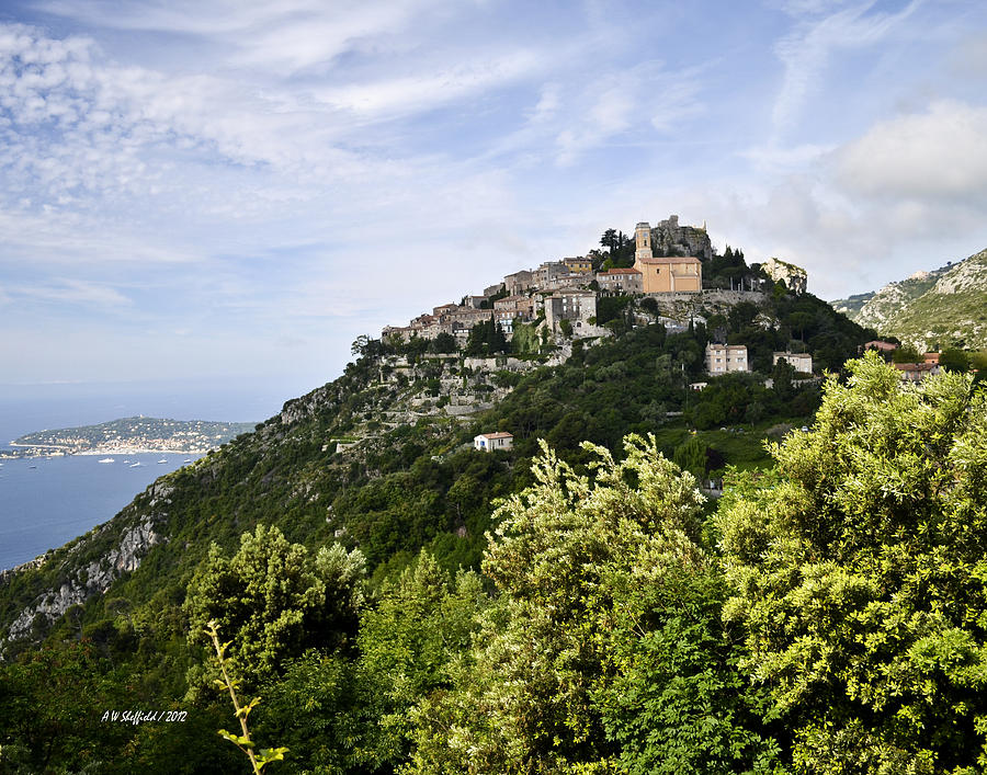Chateau Deze On The Road To Monaco Photograph