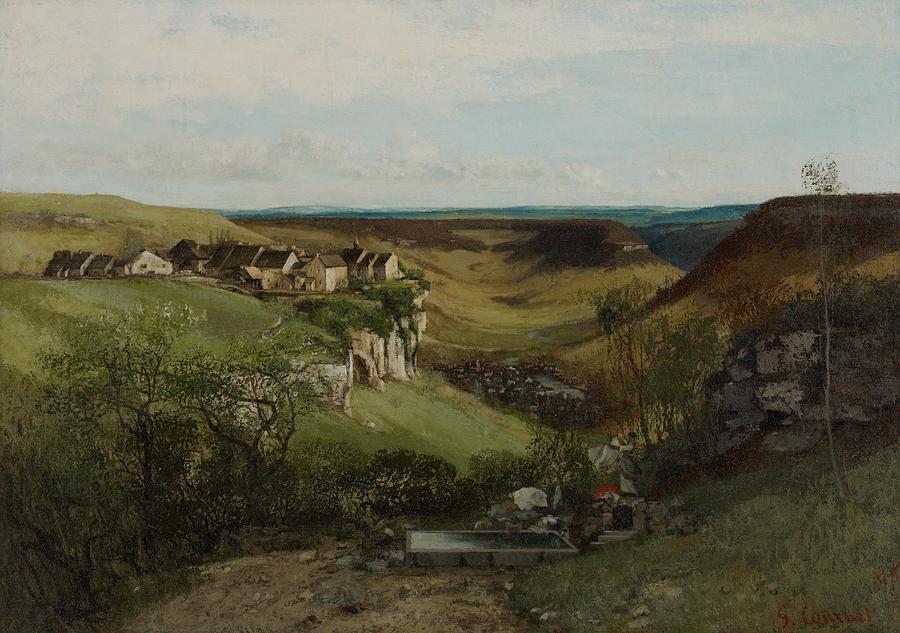 Chateau Dornans Painting