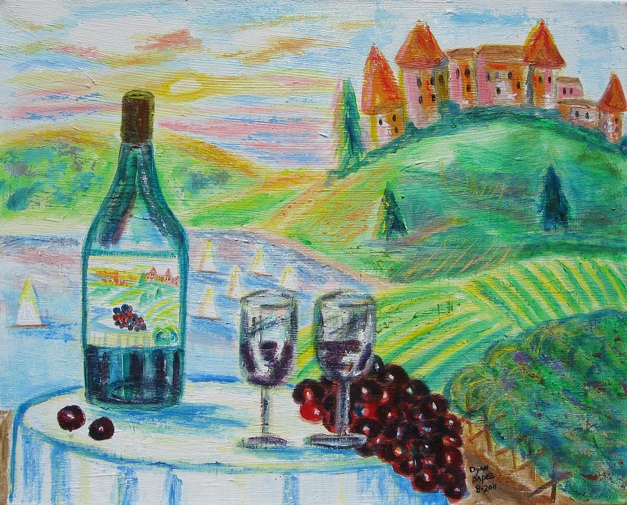 Chateau Wine Painting