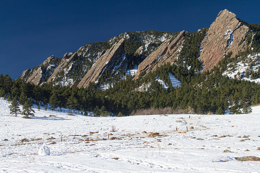 Chautauqua Park Boulder Colorado Winter View Photograph