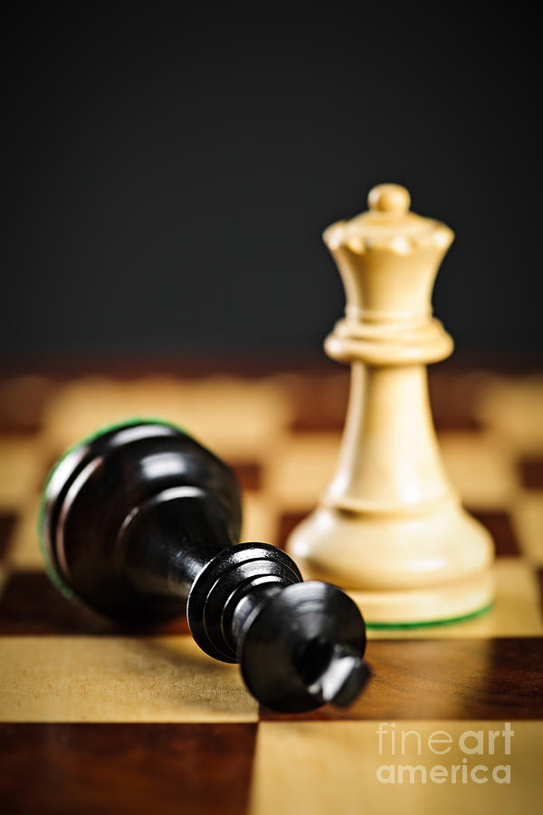 Win Photograph - Checkmate In Chess by Elena Elisseeva