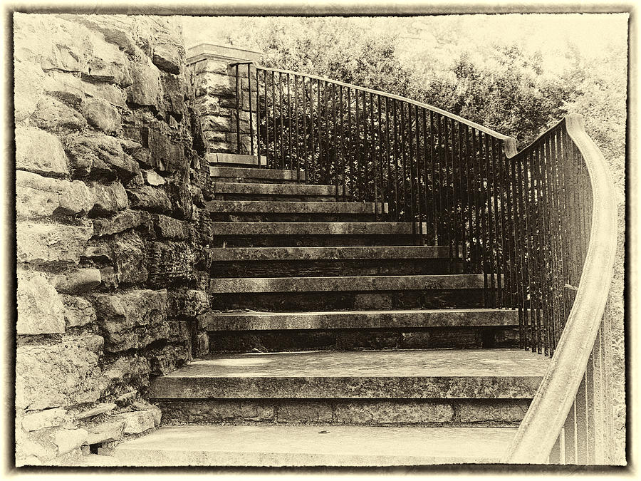 Cheekwood Stairs Cropped Photograph  - Cheekwood Stairs Cropped Fine Art Print