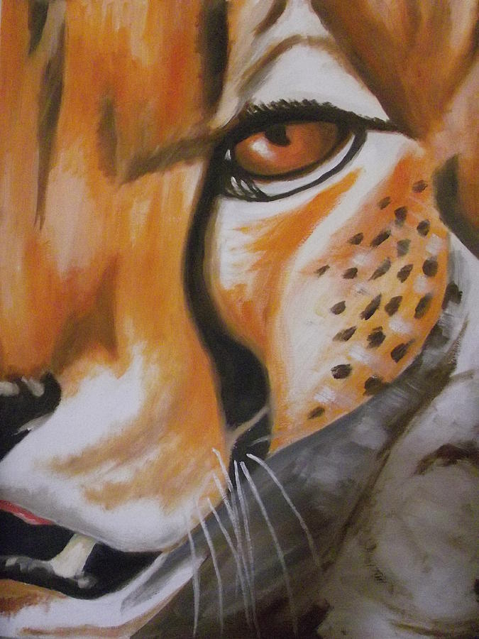 Cheetah Up Close Painting