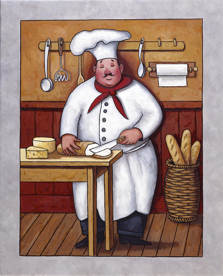 Chef 3 Painting  - Chef 3 Fine Art Print