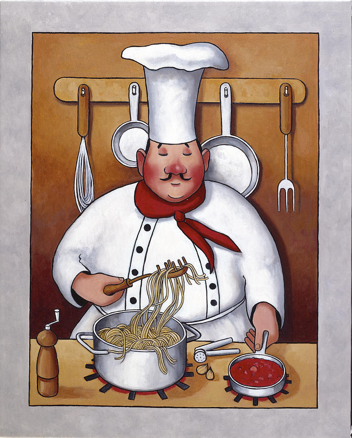 Chef 4 Painting  - Chef 4 Fine Art Print