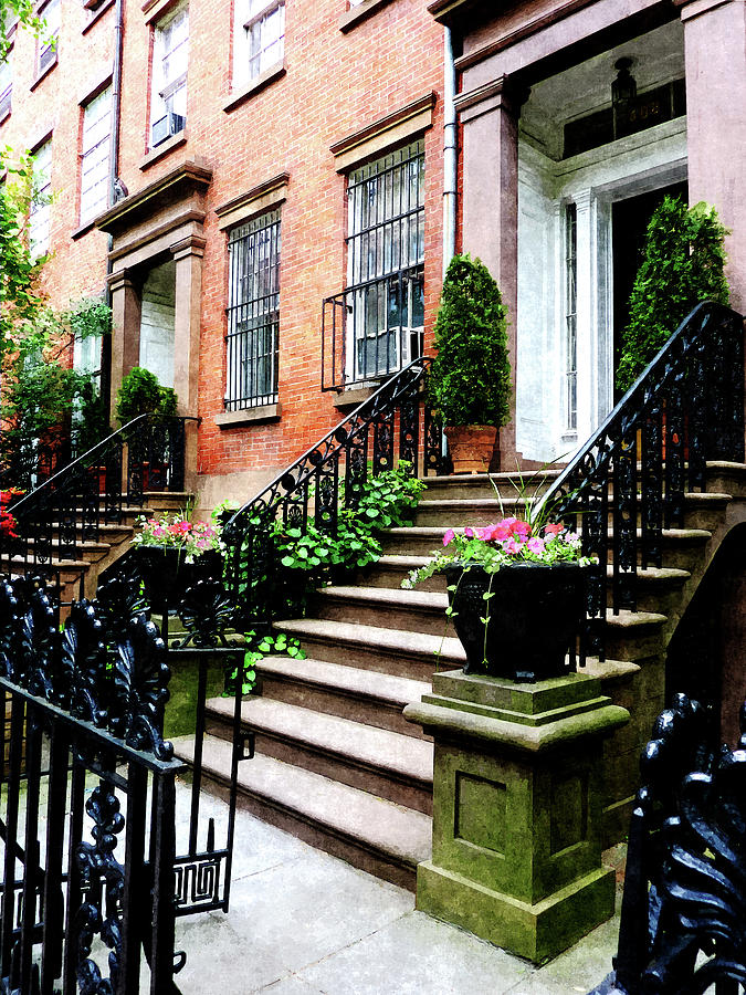 Chelsea Brownstone Photograph by Susan Savad