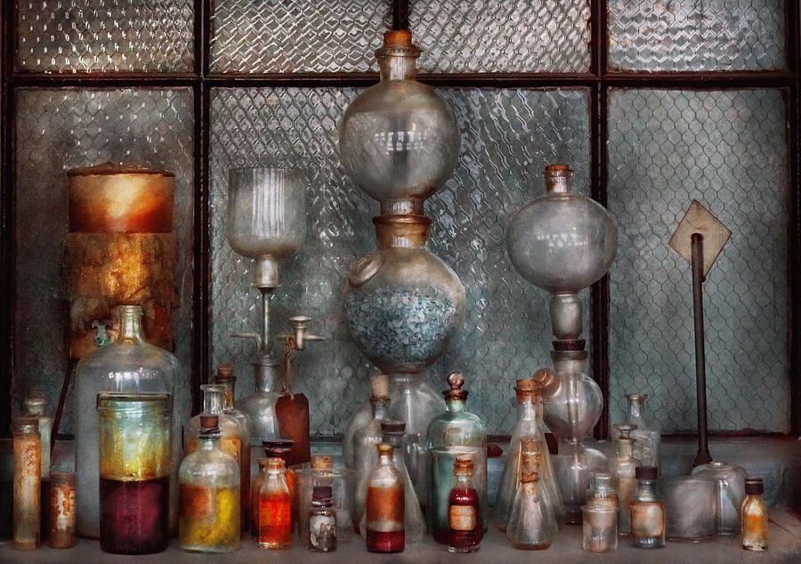 Suburbanscenes Photograph - Chemist - The Apparatus by Mike Savad